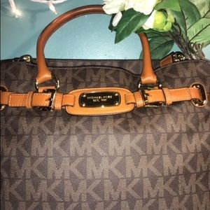 Michael Kors Brown Purse with Crossbody strap